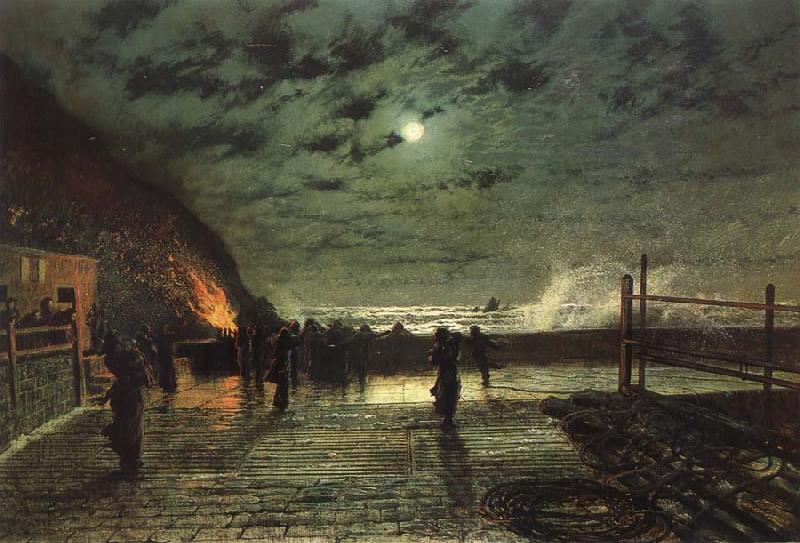 Atkinson Grimshaw In Peril oil painting image